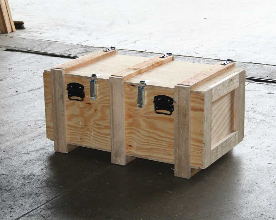 Box openable with handles