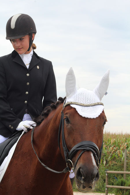 Photo of the horsewoman sponsored by the company